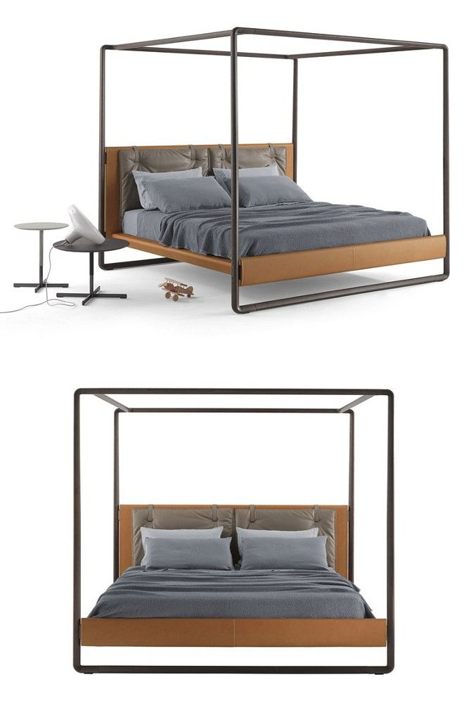 Canopy #bed VOLARE by Poltrona Frau | #design Roberto Lazzeroni @poltronafrau