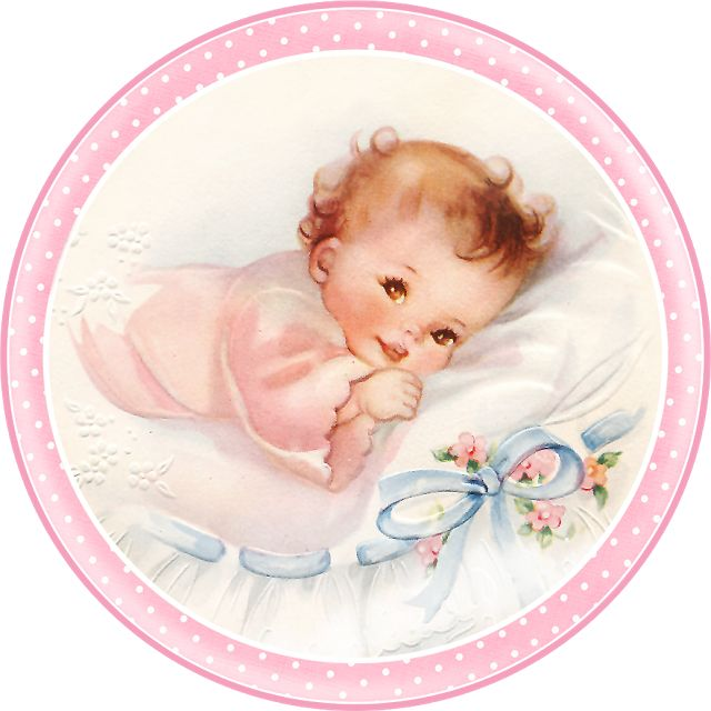 Cute Babies At Bed Free Printable Cards Toppers Or Labels