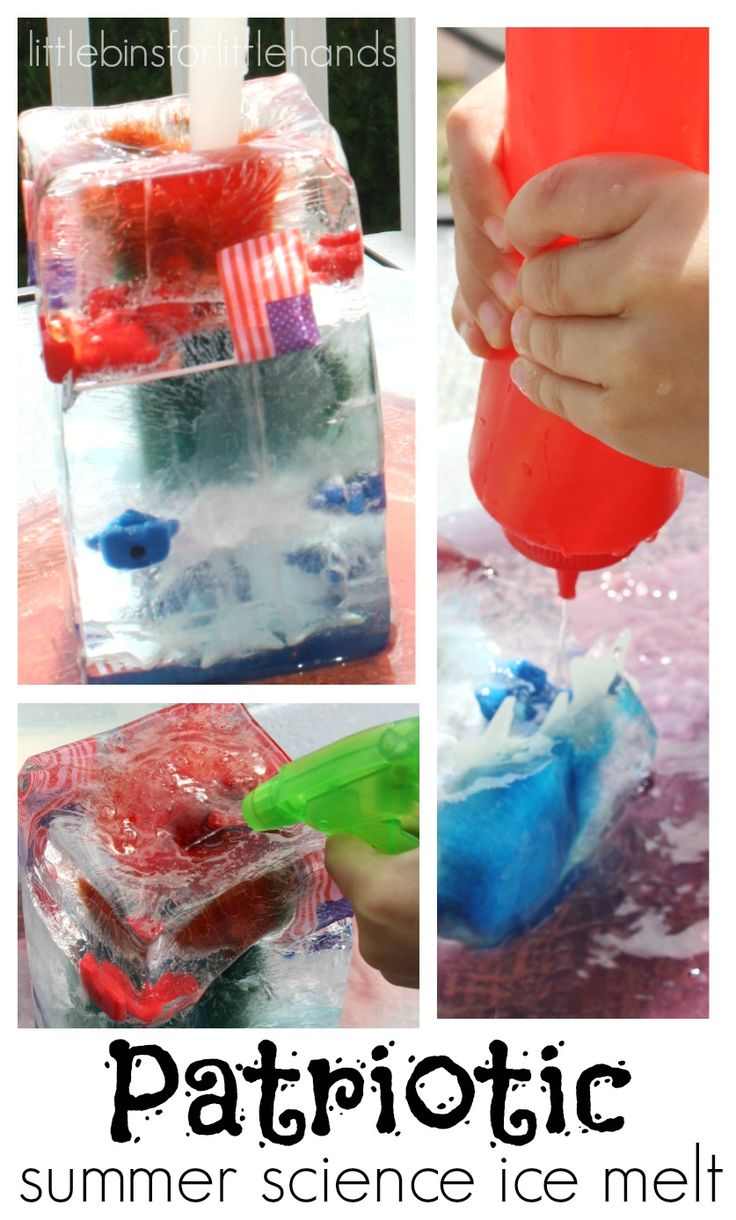 4th Of July Summer Science Ice Melt Activity For Kids
