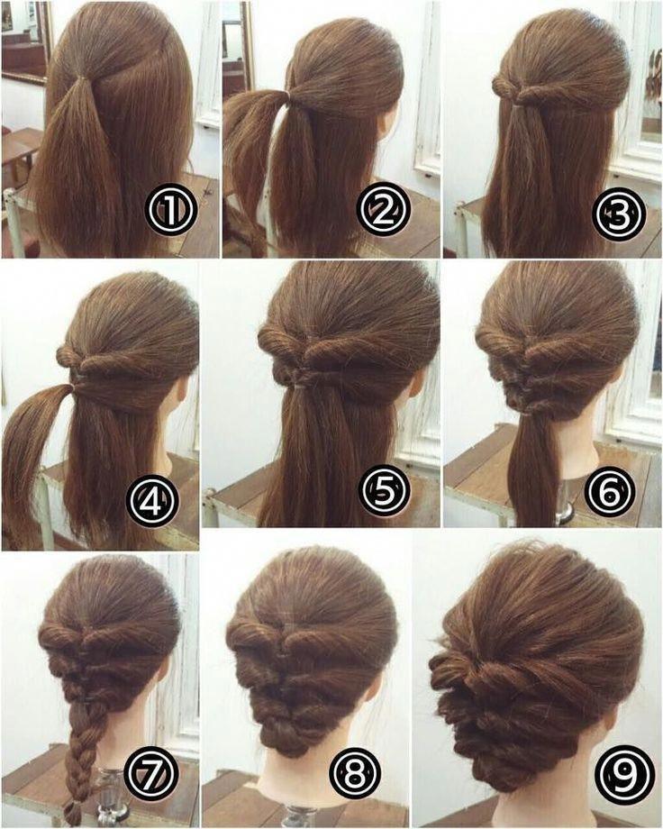 21 Super Easy Updos For Beginners Beginners Easy Super Updos Updosforshorthairwedding Up Dos For Medium Hair Long Hair Updo Easy Updos For Medium Hair