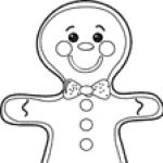 gingerbread writing page gingerbread man coloring page finegross motor ...