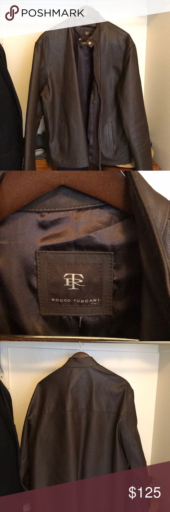 Rocco Tuscani 100% Italian leather jacket 100% Tuscan leather Italian jacket. Worn only twice in excellent condition. rocco tuscani Jackets & Coats