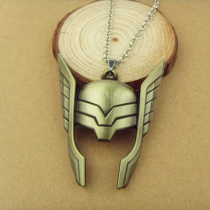 Marvel The Avengers The God of Thunder Thor Mask Helmet Necklace – The Cynical Clique