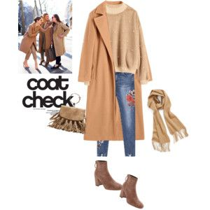Coat and jeans