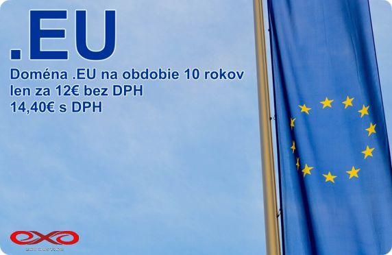 Objednajte si teraz doménu .EU za zvýhodnenú cenu