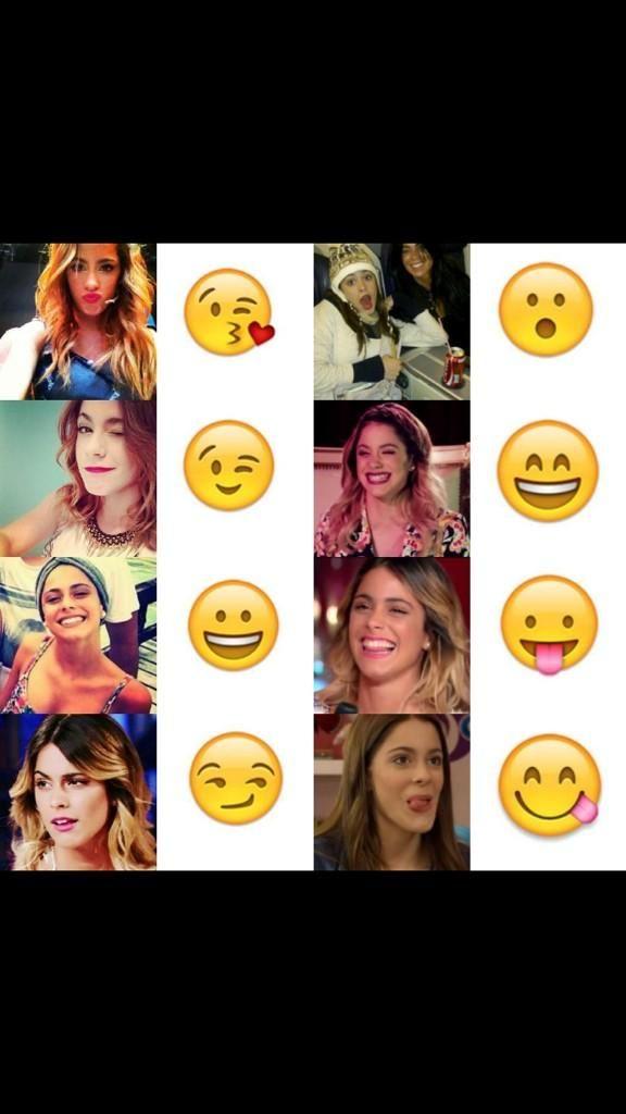 Caras de Tini y emoticones
