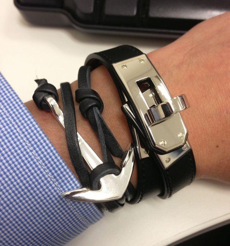 stacking Hermès bracelets. watches. etc. | Bracelets for men. Hermes. Hermes bracelet