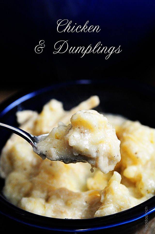Chicken and Dumplings Recipe from addapinch.com