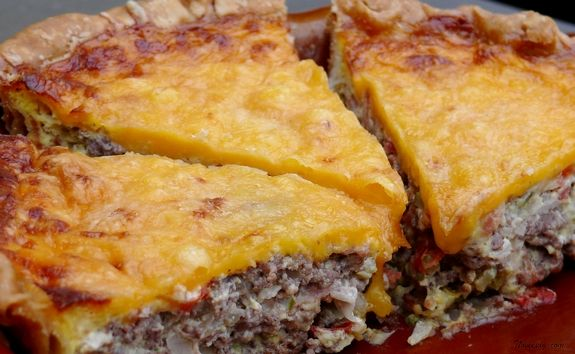 Roadside Diner Cheeseburger Quiche by Noble Pig
