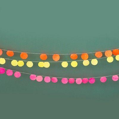 Guirlande Sophie Cuvelier Pastille pois fluo rose - My Little Bazar décoration pour chambre enfant