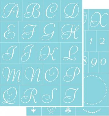 192 best stencils images on pinterest craft painting on glass and decorating display accessories elegant alphabet letters uk supplier of martha stewart silkscreens spiritdancerdesigns Gallery