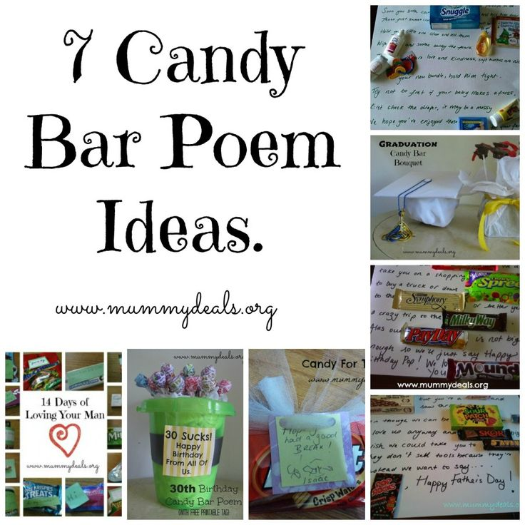17 Best Ideas About Candy Bar Poems On Pinterest