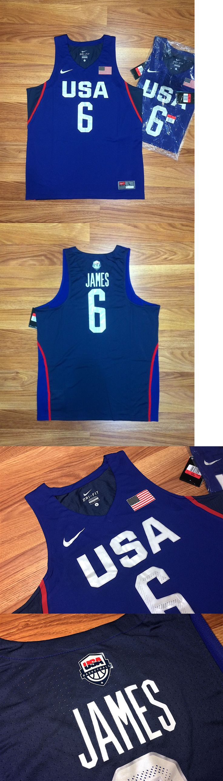 Basketball-Other 205: 2016 Nike Usa Basketball Lebron James Game Jersey Olympic Fiba Nba Cavs Blue L -> BUY IT NOW ONLY: $69.99 on eBay!