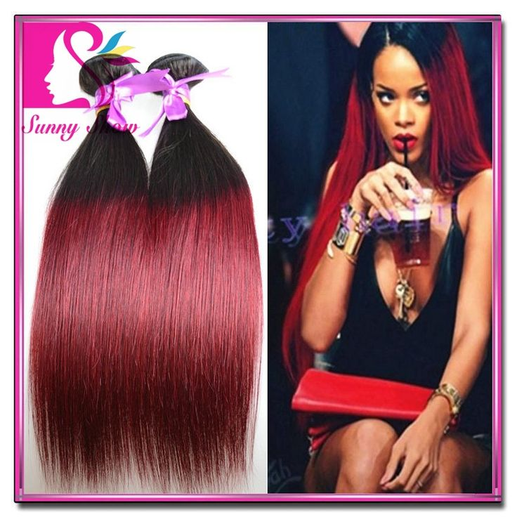 7a unprocessed virgin hair cheap two tone malaysian ombre hair bundles 1b/burgundy 1b/27 1b/30 ombre hair extensions mocha hair US $199.00