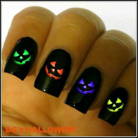 Nails Uñas Decoración Uñas Halloween Noche Brujas Noche de Muertos