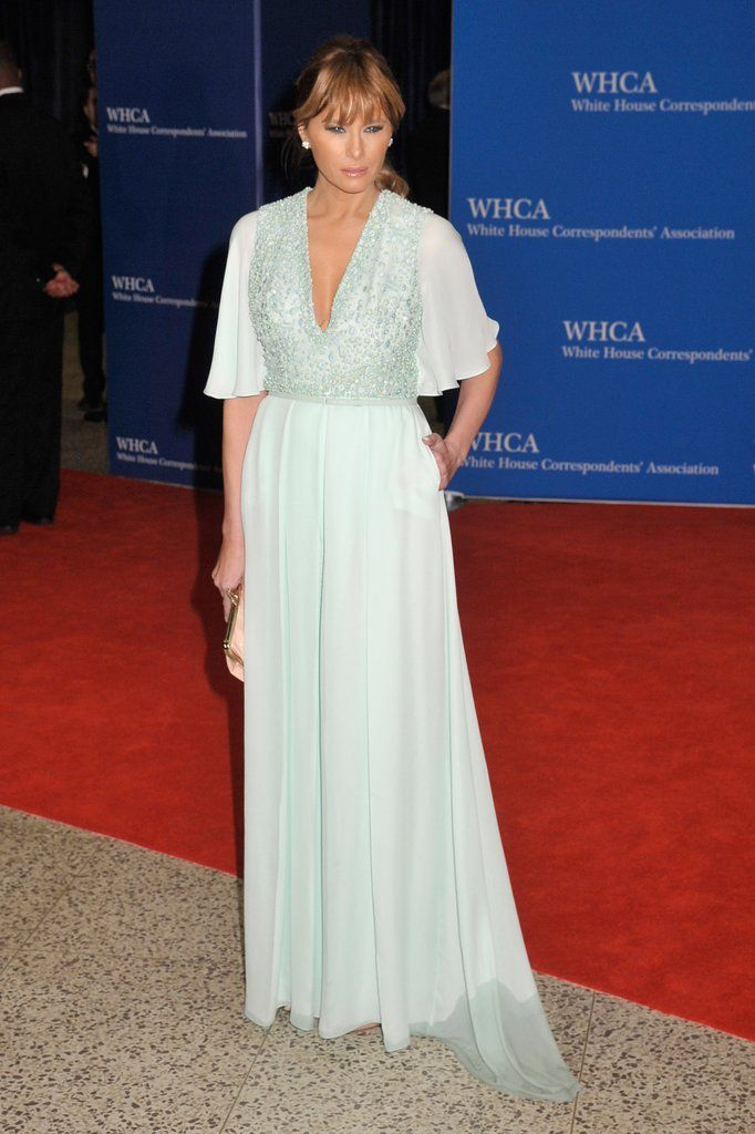 Young Melania Trump Style Melania Trump Outfits Melania Trump Fashion Fashion Latest Fashion Melania Trump Fashion Trend Young Mint Gown Style Trump Fashion