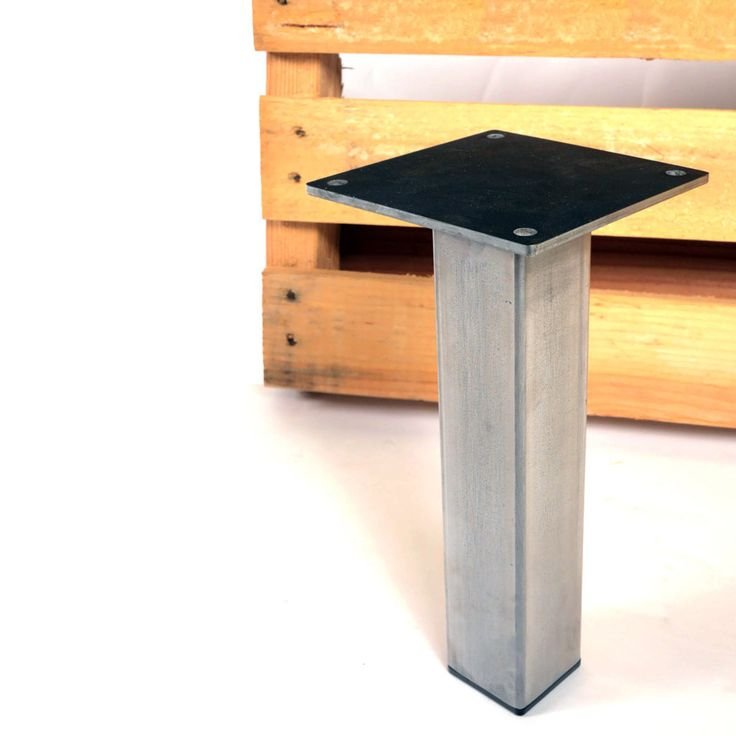 Little Pillar   The Metal Look Is More Modern Than A Traditional Farmhouse  Table Leg |
