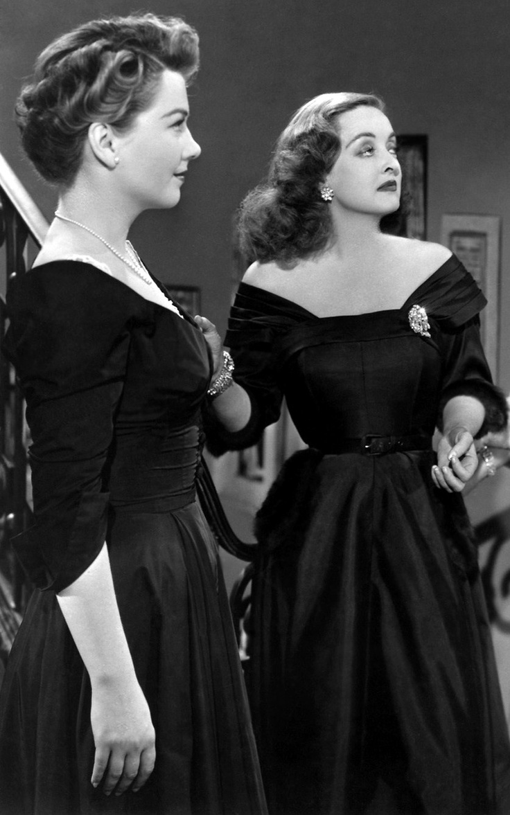 All About Eve Ann Baxter and Bette Davis wearing Joseff Hollywood Jewelry