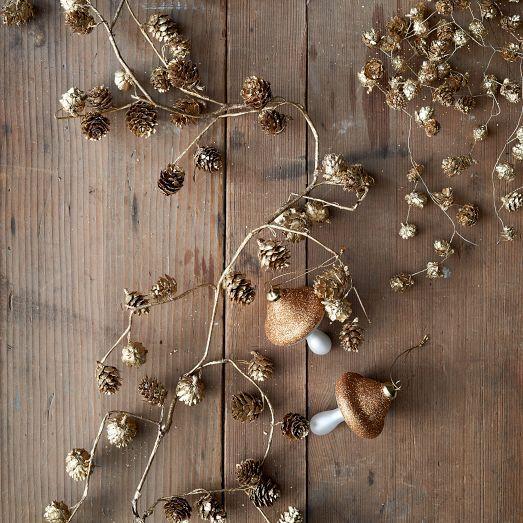 Gold Pinecone Garland | west elm