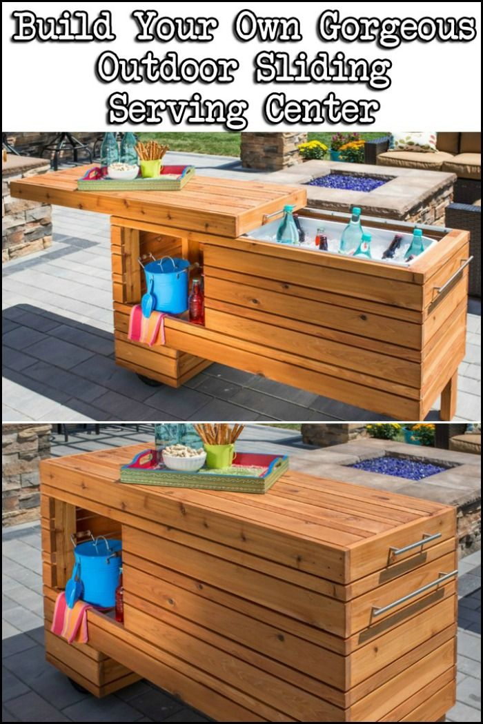 Enjoy Outdoor Entertaining With This DIY Sliding Serving Center!
