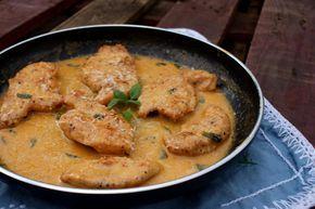 Filety z kurczaka w delikatnym kremowym sosie