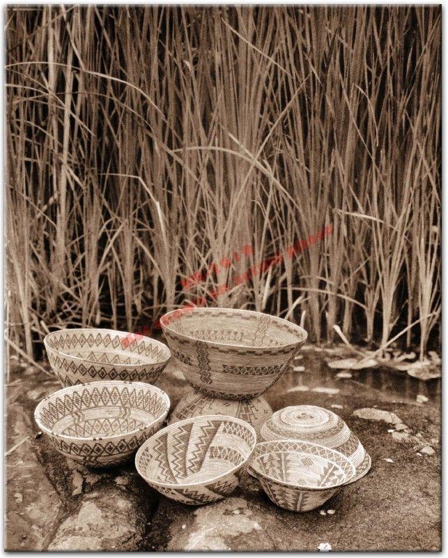 Yokuts Rattlesnake Design Baskets 1924 Native American
