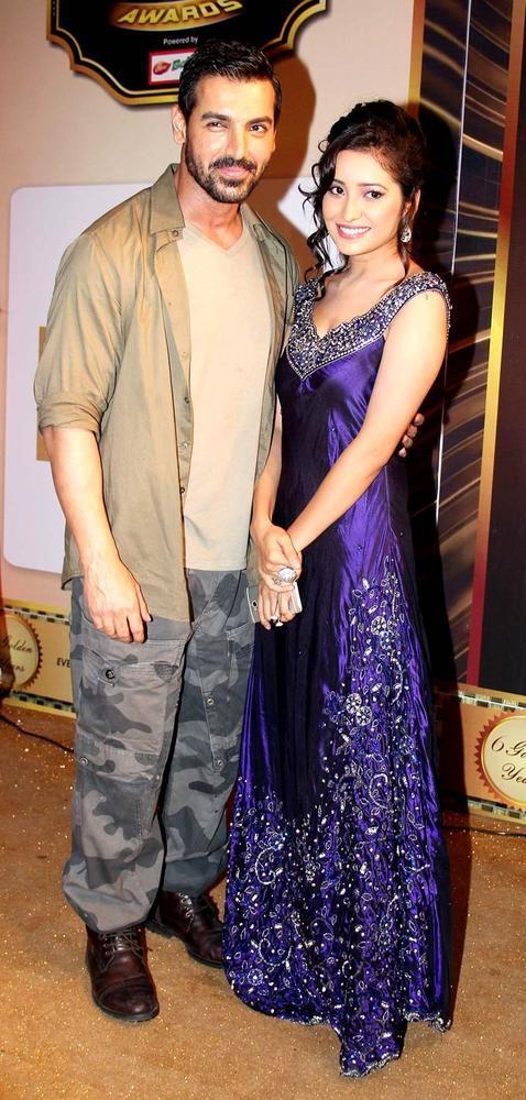 John Abraham & Asha Negi at the Indian Global Television Awards #Bollywood #Fashion