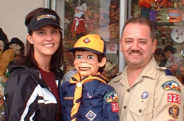 Ricky the Air Force Recruiter wearing his Cub Scout uniform