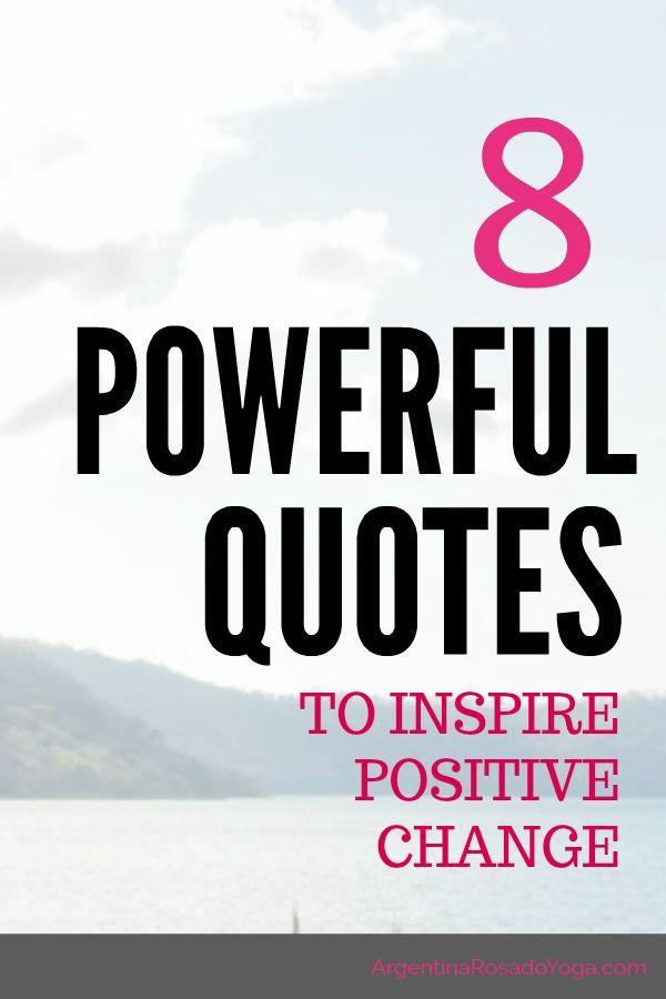 Positive Change Quotes