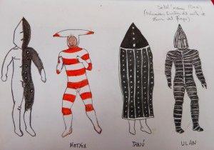 Rituales Selk'nam (dibujo del diario de Silvia)
