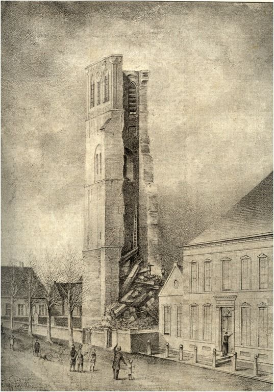 De ingestorte toren van Geldrop Auteur: Rijken, J. - 1887 - 1889