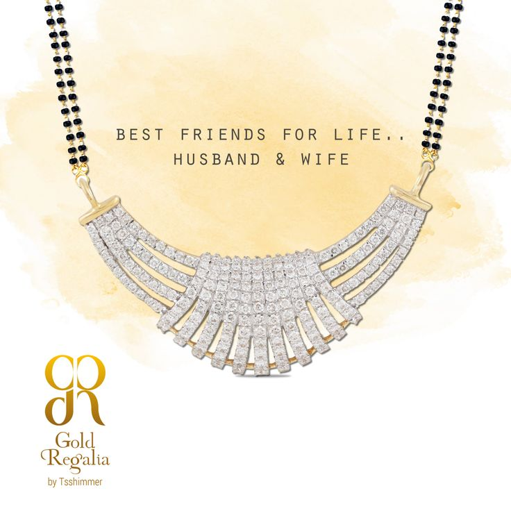 Best friends for life, Husband and wife! : https://goo.gl/Te7csj #MangalsutraDesign #Pendants #WomensJewelry #IndianJewelry