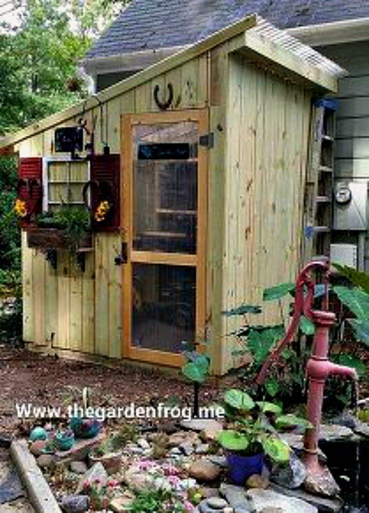 My rustic picket garden shed made from pine dog eared fence pickets for around $300 and created to hold my gardening tools and supplies