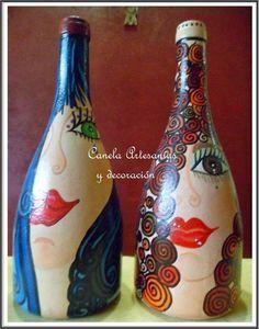 botellas adornos artesanales - Buscar con Google