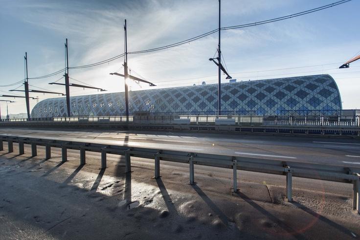Poznan Poland, Dworzec Poznań Główny widok z Mostu Dworcowego
