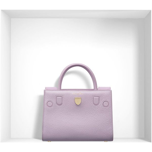 "MINI ""DIOREVER"" BAG LILAC PINK METALLIC BULLCALF LEATHER ❤ liked on Polyvore featuring bags, handbags, leather handbags, metallic handbags, pink purse, pink handbags and genuine leather handbags"
