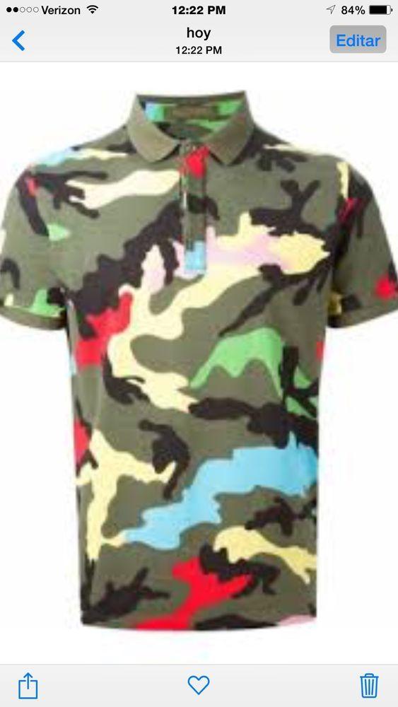 2c6c922e 2015 ss valentino camouflage camo multi color polo shirt | Camouflage |  Zapatillas