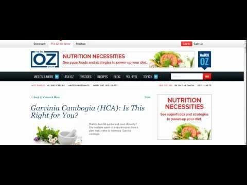 Dr Oz Garcinia Cambogia: Does Garcinia Combogia Work?
