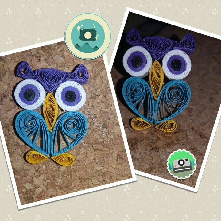 Ouilling owl ring