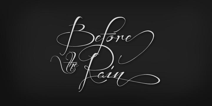 Before the Rain font by Måns Grebäck - FontSpace