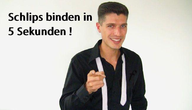 Schlips binden Trick: Schlipsknoten Anleitung + Video