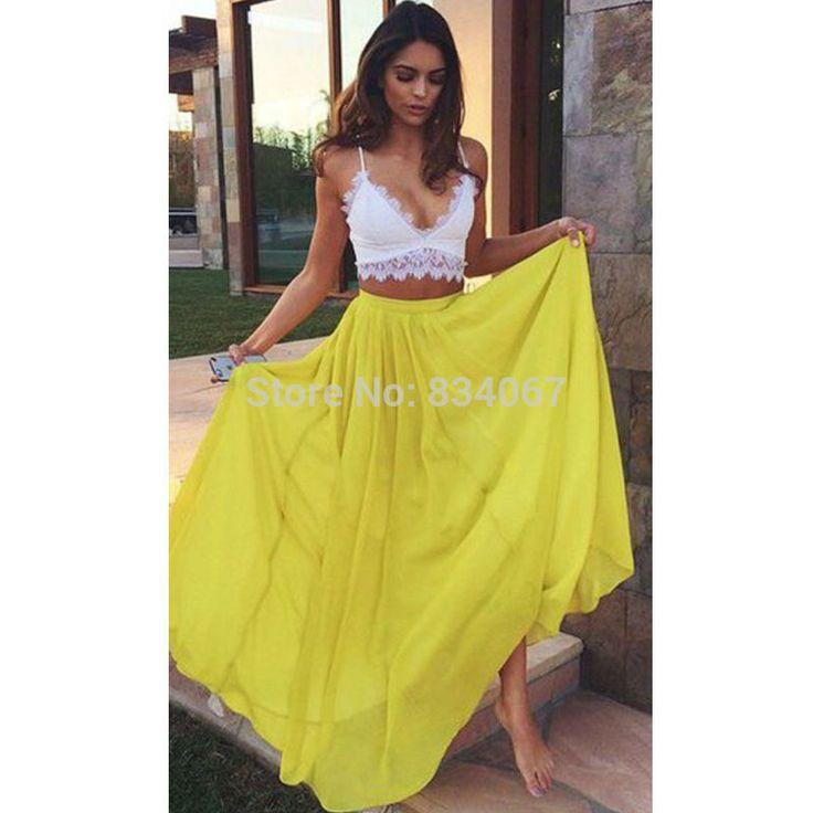 Gelbes kleid lang – Modische Kleider beliebt in Deutschland
