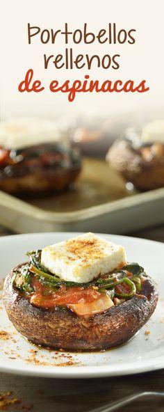 No hay hongo más sabroso que el portobello, ahora imagínate lo rico de esta receta, ya que vienen rellenos de espinaca. Los Portobellos Rellenos de Espinacas es la receta ideal para que tus hijos comiencen a comer un poco más de verduras.