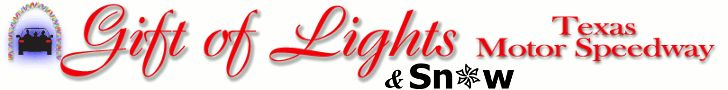 It's SNOW at Texas Motor Speedway's Gift of Lights {Discount}