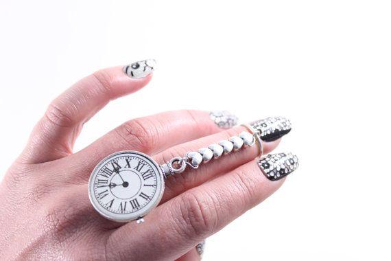 Alice in wonderland tick tock clock queen of door VioletVanilla, $18.00
