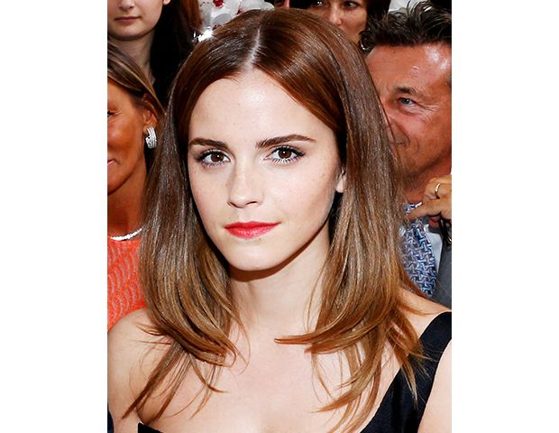 @byrdiebeauty - Easy Transition    Emma Watson's chesnut brown hair is a shade that's perfect for summer, but could easily transition into fall (if you're thinking ahead that far…we're still convinced summer has just started).