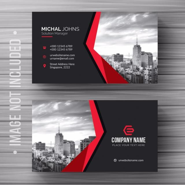 Black And Red Business Card Red Business Cards Business Card Design Black Visiting Card Design