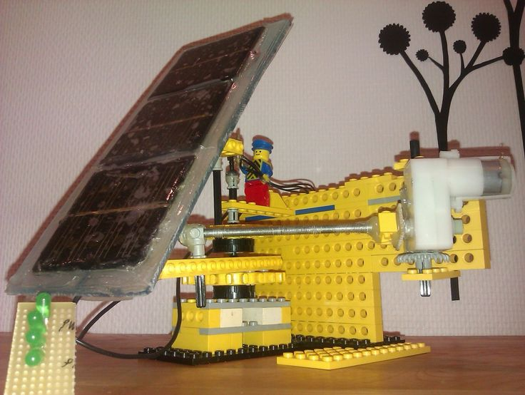 solartracker with actuator – lego model http://techmind.dk