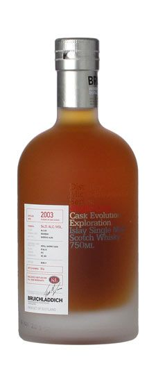 2003 Bruichladdich K Exclusive Peated Single Barrel Cask Strength Single Malt Whisky 750ml