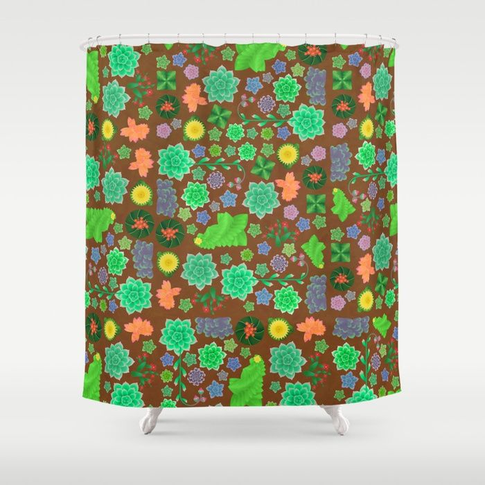 Cactus and succulents Shower Curtain